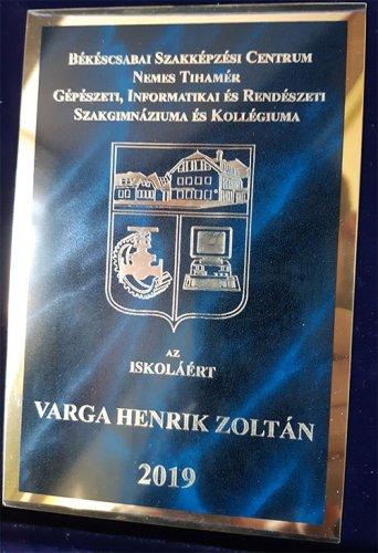 Az iskoláért díj - ballagás 2019